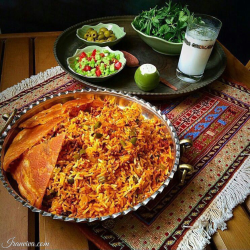 Loobia - polo (Rice and beans) - Iranian Food - Best Photos of Iran - Iranviva