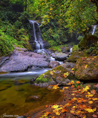 Zomorrod Waterfall in Gilan Province - Best Photos Of Iran - Iranviva