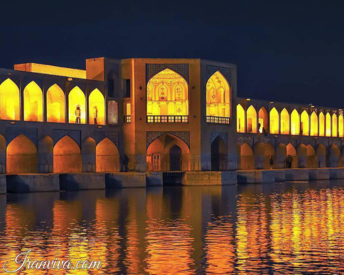 Khaju bridges in Isfahan - Iran Tours and Travel
