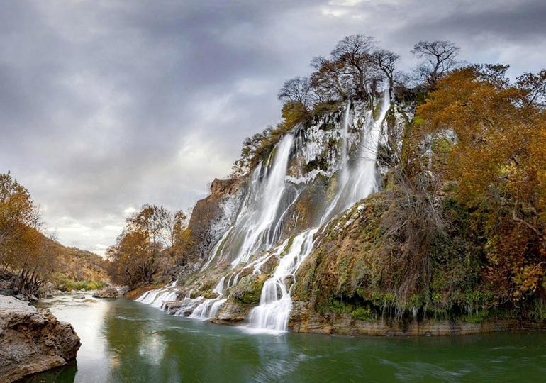Lorestan forest waterfall, a spectacular treasure in the heart of oak forests