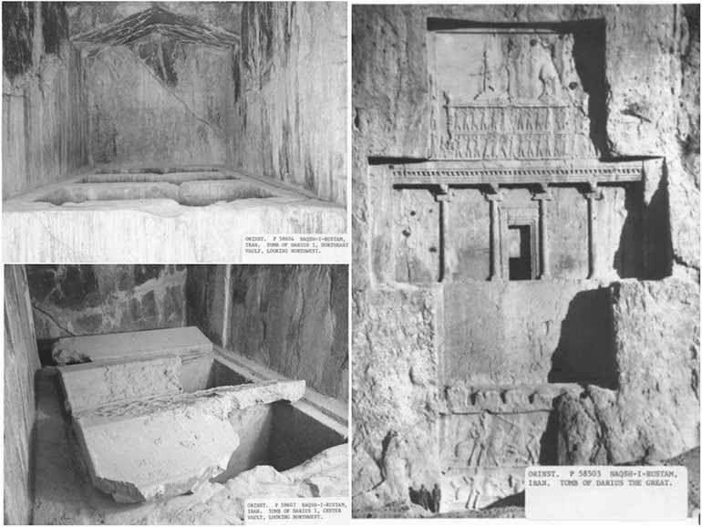Inside the tomb of Darius the Great