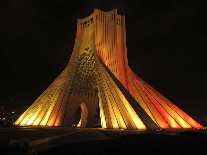 Tower of Freedom, places of interest in Tehran